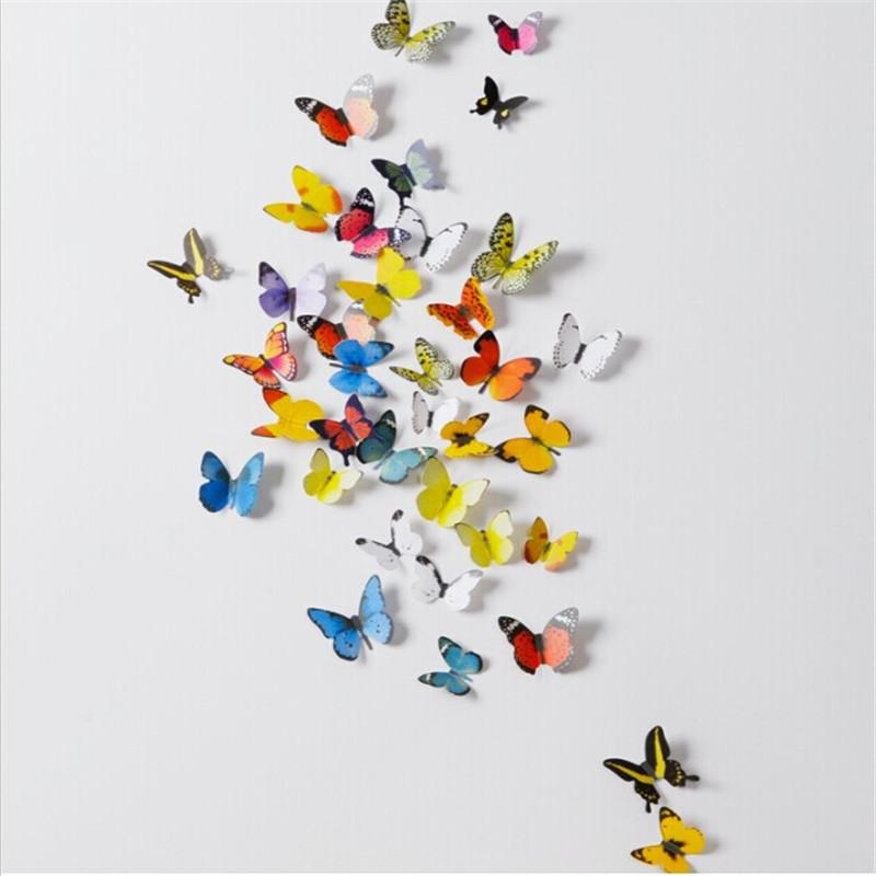 Pvc D Butterfly Wall Decor Cute Butterflies Wall Stickers Art - Butterfly wall decals 3d