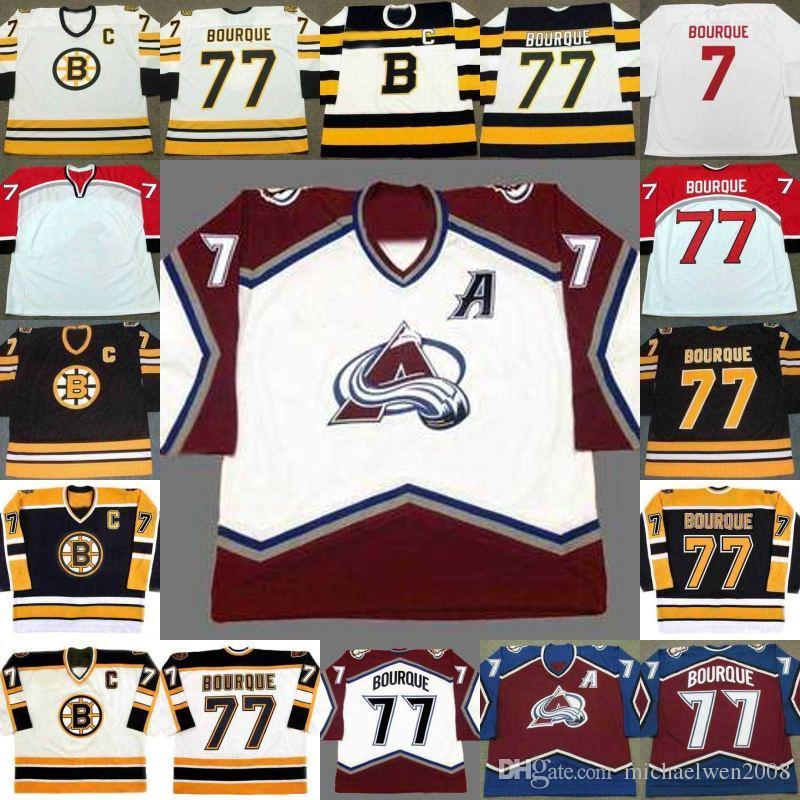 0d0e4eac736 77 Raymond Bourque Jersey Boston Bruins 2003 1990 1992 1995 ado Avalanche  2001 Hockey Jerseys Stitched UK 2019 From Michaelwen2008