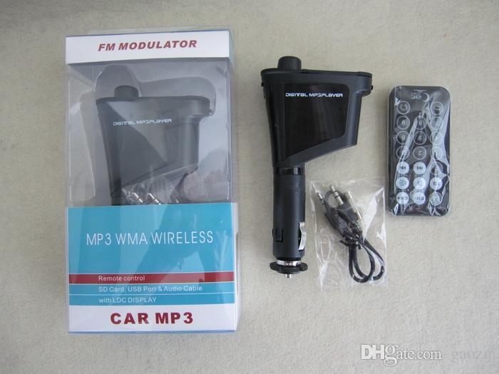 Многоцветный с ЖК-автомобиль mp3 дисплей пульт дистанционного управления smart Car Kit MP3 wma беспроводной плеер FM-передатчик SD-карты USB-порт аудио кабель