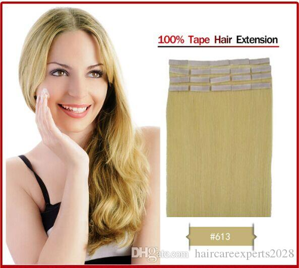 ELIBESS Tape Hair Extenison 1# 1B# 2# 4# 6# 99j# 27# 613# /pack Remy Tape Thick Skin Weft Brazilian Hair Beautiful Products Promotion