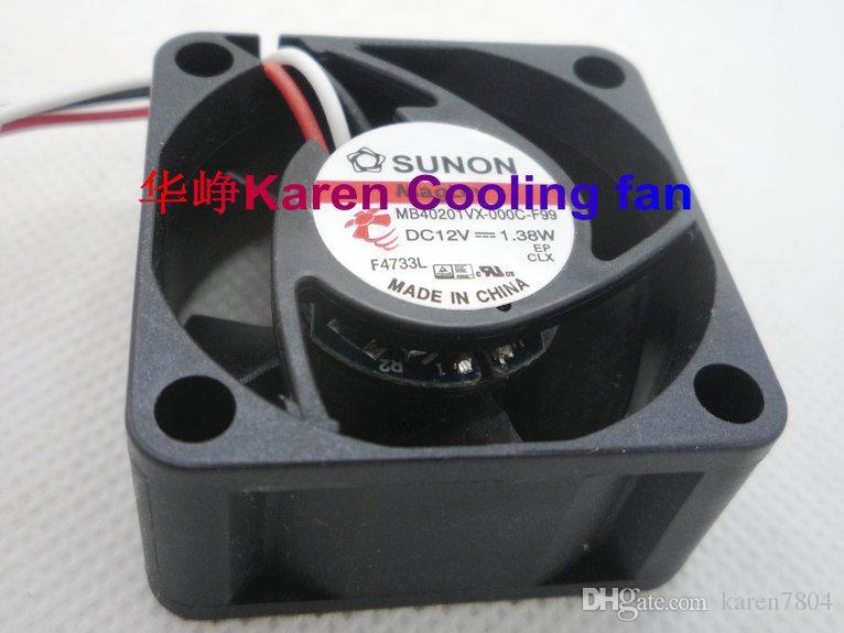 Nuovo Originale MB40201VX-000C-F99 4020 12 v 1.38w 3 fili Ventola di raffreddamento 40 * 40 * 20mm MB40201VX-000C-a99