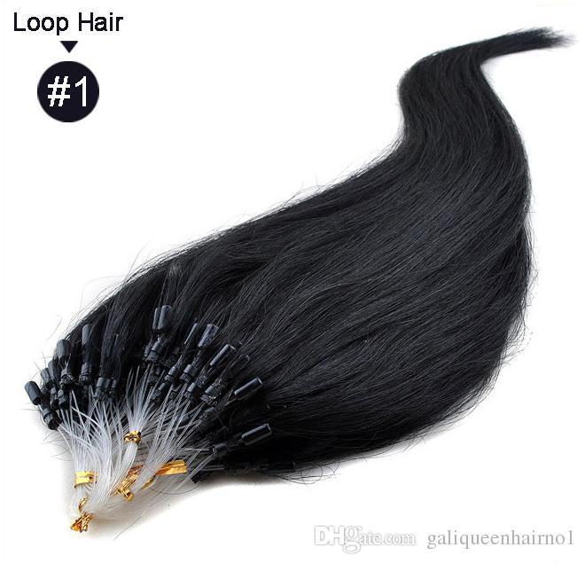 Mikroschleife Remy Haarverlängerungen 18