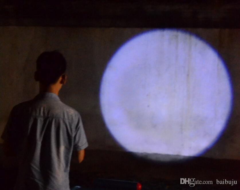 Yuvarlak Ay Şekli Işık Alüminyum Alaşım Mini XML Cree Torch Ile Yüksek Güç Led anahtarlık taşınabilir kuyruk