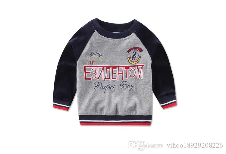 Baby clothes boys winter velour Children's Outfits casual kids suits kidswear sports sets infant apparel embroidery high quality blouse pant