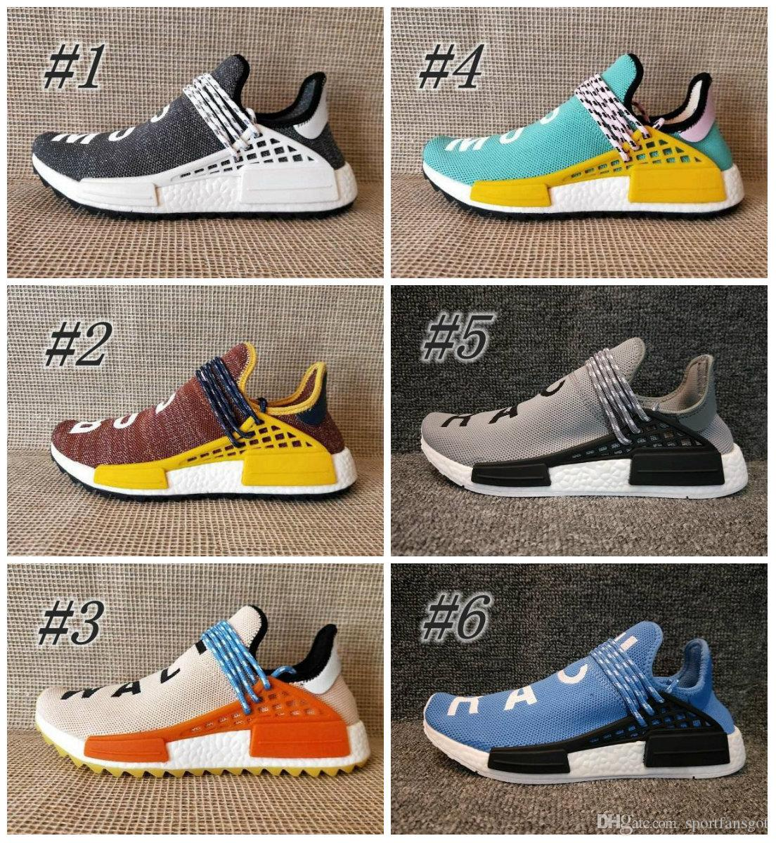 New Luxury brand men shoes Pharrell Williams Designer sneakers Sports Running Shoes Yellow Red Athletic mens Outdoor Training Sneaker Shoes free shipping Inexpensive kNS8zKgJK