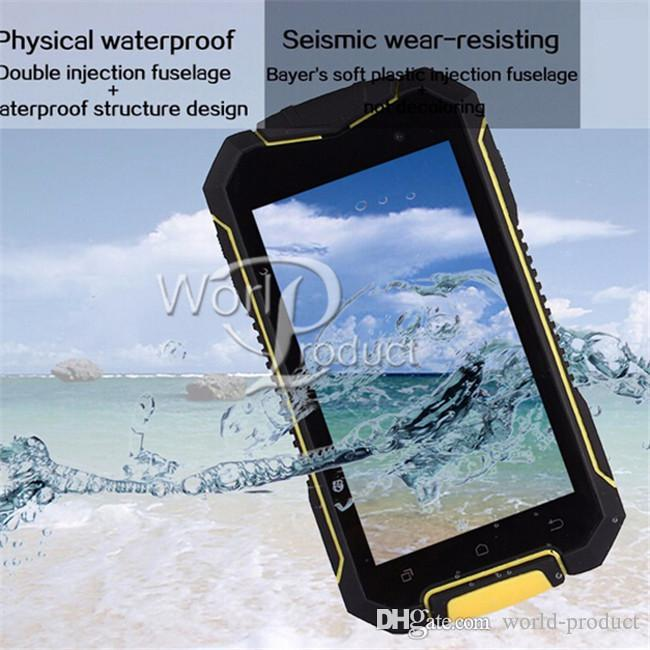 Telefono astuto impermeabile a 4.5 pollici di IP67 del telefono irregolare XP7700 MT6580 Quad 3G di WCDMA di androide 5.1 Smartphone 8GB doppia carta SIM