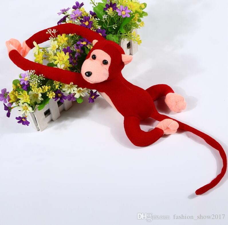 Cute 60cm Long Arm Monkey from Arm to Tail Plush Toys Colorful Monkey Curtains Monkey Stuffed Animal Doll