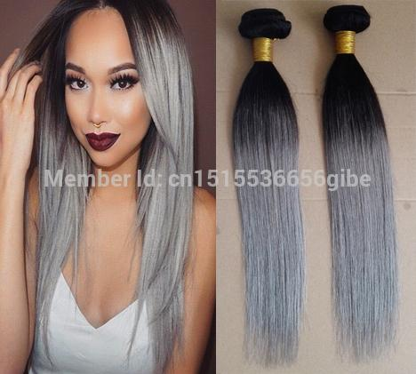 2018 grey ombre hair extensions 1b grey straight two tone ombre grey ombre hair extensions 1b grey straight two tone ombre brazilian grey hair weave rosa pmusecretfo Image collections