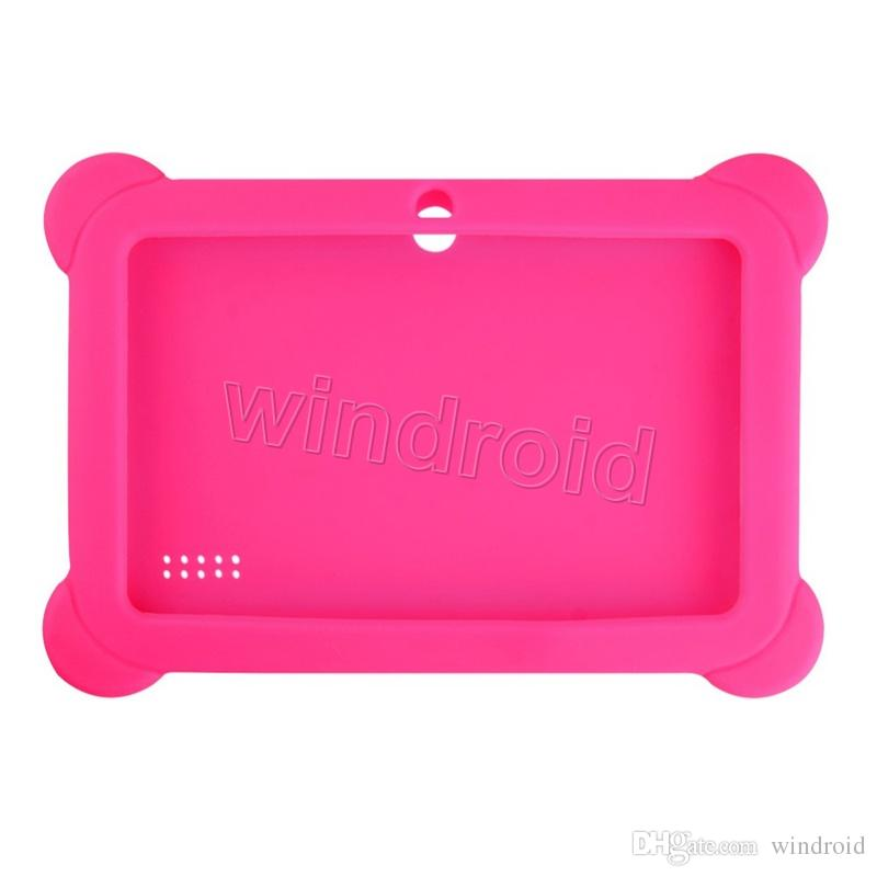 """Cheapest Anti Dust Kids Child Soft Silicone Rubber Gel Case Cover For 7"""" 7 Inch Q88 Q8 A33 A23 Android Tablet pc MID Free DHL"""