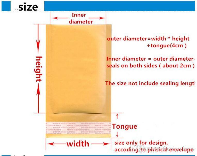 338MM x 457MM + 40mm Kraft Mailer Bubble Padded Envelopes Bags Kraft Bubble Mail Mailing Express Bag Bubble Cushioning Bag