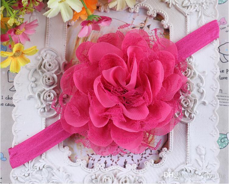 Bébé fille bandeau bandeaux nouveau-né Shabby Chic fleur bandeau dentelle bandeau cheveux accessoires