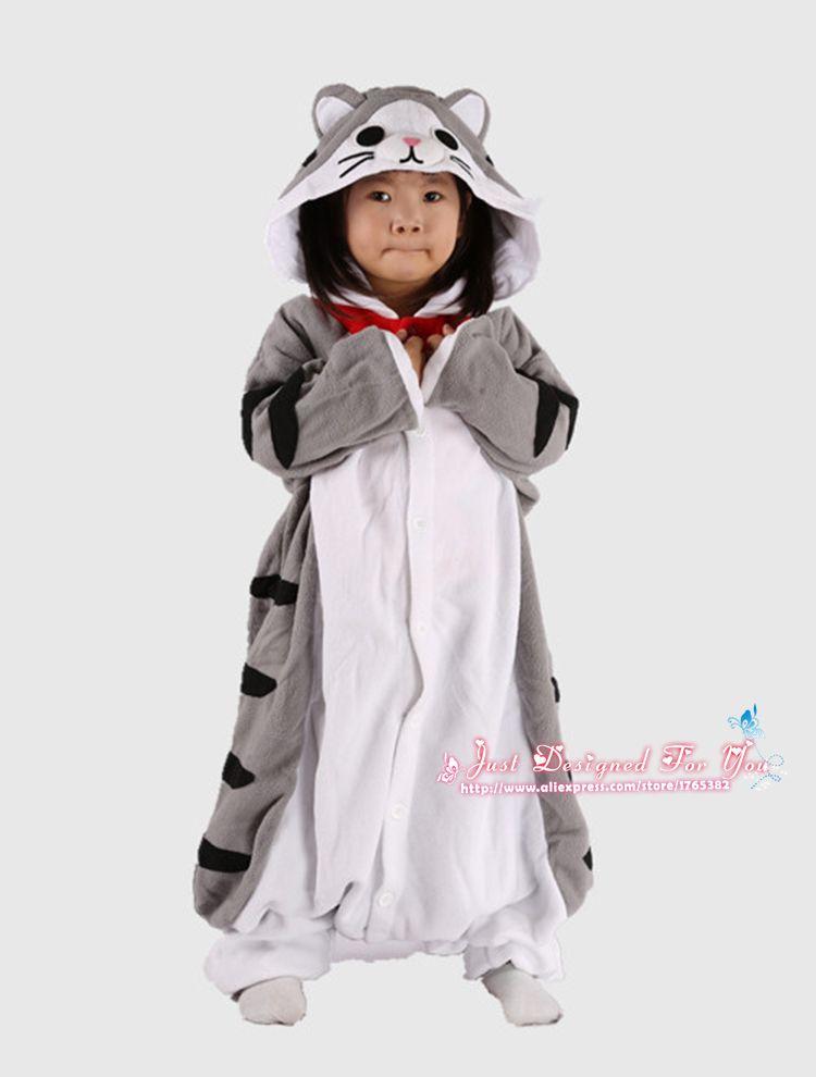 5c4973b484f7 1510 Kawaii Anime Cartoon 3D Cheese Cat Pajamas Pyjamas Kids Animal ...