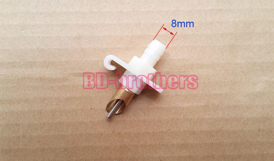 ЛА 8 мм тонкой меди косой раздел Кролик поилка поилки с пружиной и тройник муфты автоматический поилка для кролика птицы 1100 компл. / лот