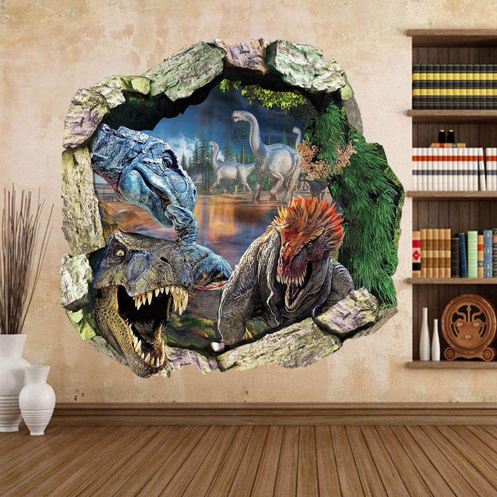 New Big Jurassic Park Dinosaur Wall Sticker Vinyl Decal Mural Art Kids  Nursery Home Decor Wall Art Quote Stickers Wall Art Quotes From  Gonglangdianzi01, ... Part 90