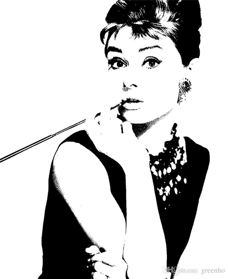 Audrey Hepburn Wall Art elegant audrey hepburn wall mural pop art photo wallpaper canvas