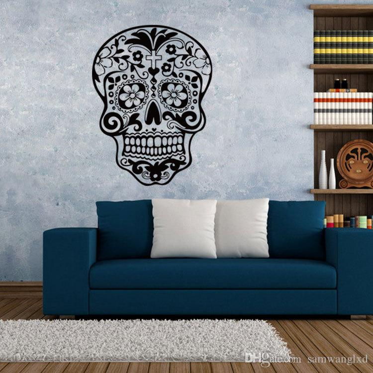 New Skull Wall Sticker Skull Punk Rock Creative Personality - Wall decals 2016