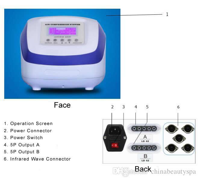 2 1 공기 압력 Pressotherapy 먼 적외선 림프 배수 몸 독소 림 해독 기계 슬리밍