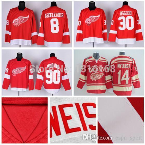 check out caa0e 02020 canada detroit red wings chris osgood 30 red replica jersey ...