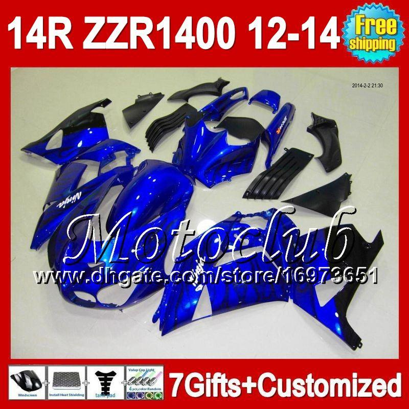 7gifts Black flames For KAWASAKI NINJA ZX14R 12-13 ZZR1400 12 13 12 13 2C522 blue black ZZR-1400 2012 2013 2012 2013 ZZR 1400 Fairing