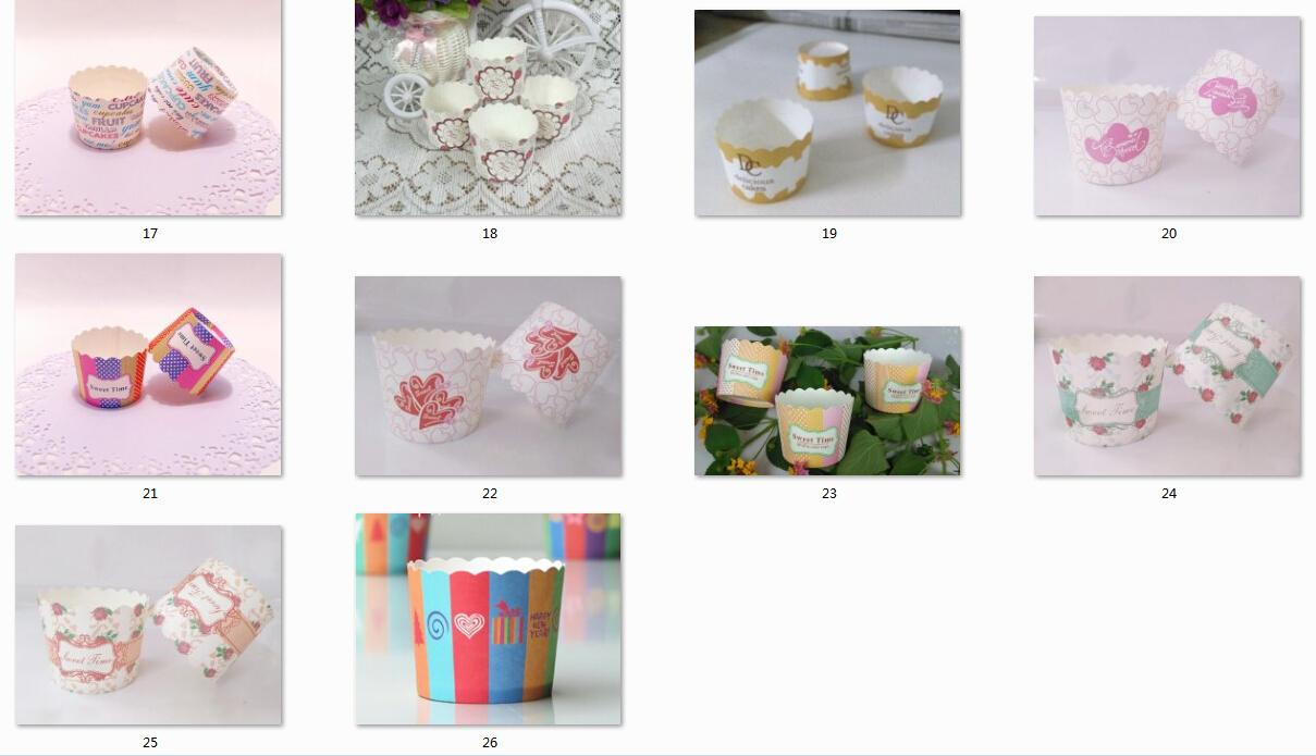 Baking cups cake paper cups baking mold Muffin Cups Multi patterns bear high temperature