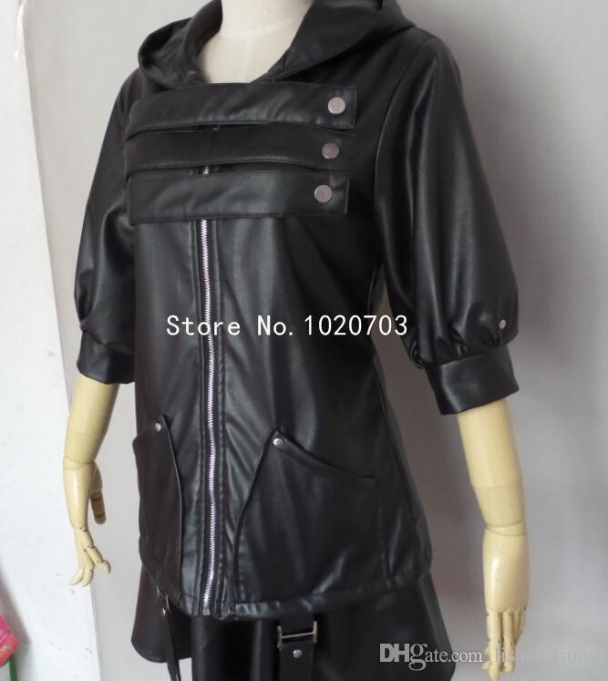 جديد طوكيو الغول توكا كيريشيما أسود القتال الملابس تأثيري حلي f008