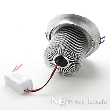 Faretto da incasso a soffitto da 15W LED 85-265V + Driver Non dimmerabile Lampada luminosa Faretti ad alto lumen argento Bianco caldo Bianco naturale Bianco freddo CE ROSH