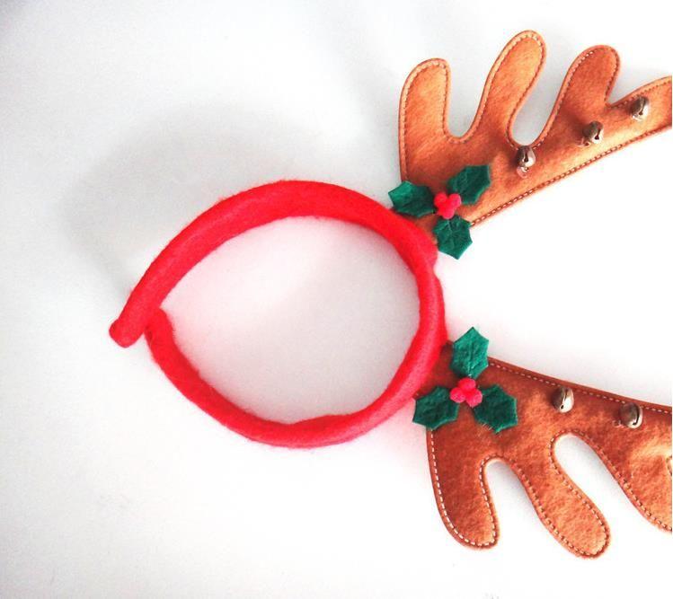 Christmas Reindeer Antlers Headband Xmas Lovely ELK Hair Band Christmas Ornament Decor Deer Reindeer Headband Head Hoop Hot