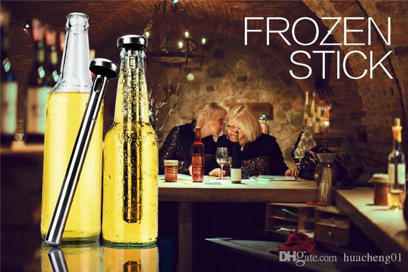 Bira Chiller Sopa Paslanmaz Çelik Bira Chill Soğutma sopa İçecek Soğutucu Sopa 2 adet / takım kutusu ambalaj DHL tarafından Ücretsiz