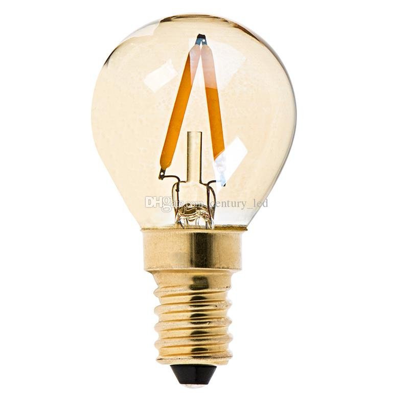 best gold tintg40 globe led filament bulb1we12 e14 baseultra warm white light bulb types gu10 led bulbs from
