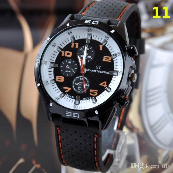 2017 Moda GT Assista Grand Touring F1 Homens esportes relógio luxurysport homem militar relógios de Silicone Strap Quartz Relógio de Pulso watchband hot