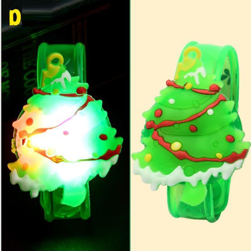 Hot Cute Cartoon LED Watch Toy Boys Girls Flash Wrist Band Party Christmas Decoration Glow Luminous Bracelet