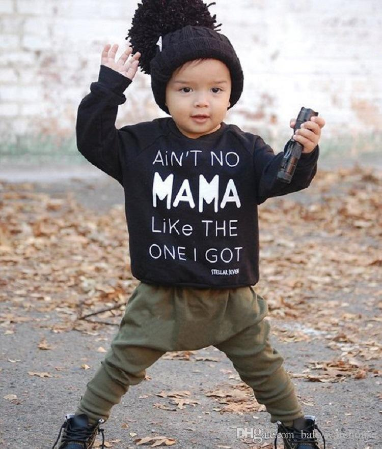 d5850cda452 2019 Toddler Boys Clothing Infant Kids Baby Boy Clothes Set Autumn Winter  Outfits Letter Long Sleeve T Shirt Tee + Long Pants Suit Boys Set From ...