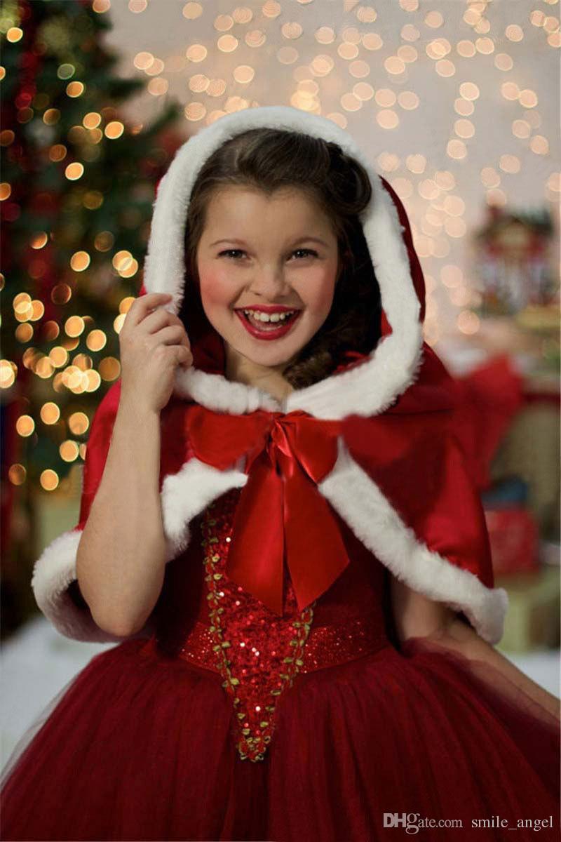 Großhandel Winter Warmer Weihnachten Gefrorener Kleid Mit Cape Schal ...