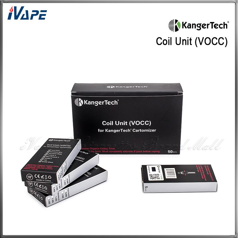 Original Kanger Upgraded Dual Coils VOCC Coil Unit For Aerotank Mini Mega Protank 3 EVOD 2 T3D Atomizer Kangertech VOCC Organic Cotton Coil