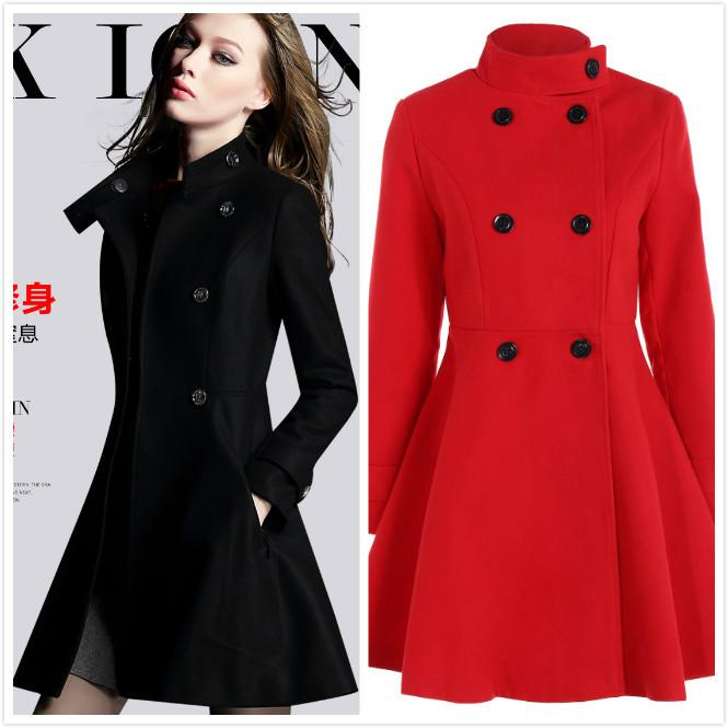8f023d7939 Compre Inverno Mulheres Longo Casaco De Lã Vestido Moda Engrossar Casaco  Blusão Casaco De Inverno Casaco De Lã Longo Longo Plus Size Tops De Peisi