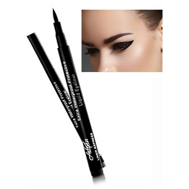 d2c5fda6a Súper Negro Impermeable Eyeliner Lápiz Delineador De Ojos Pen Lady  Cosmetics Make Up Eye Marker Esenciales De Belleza Eyeliner Contour Por  Cutecute