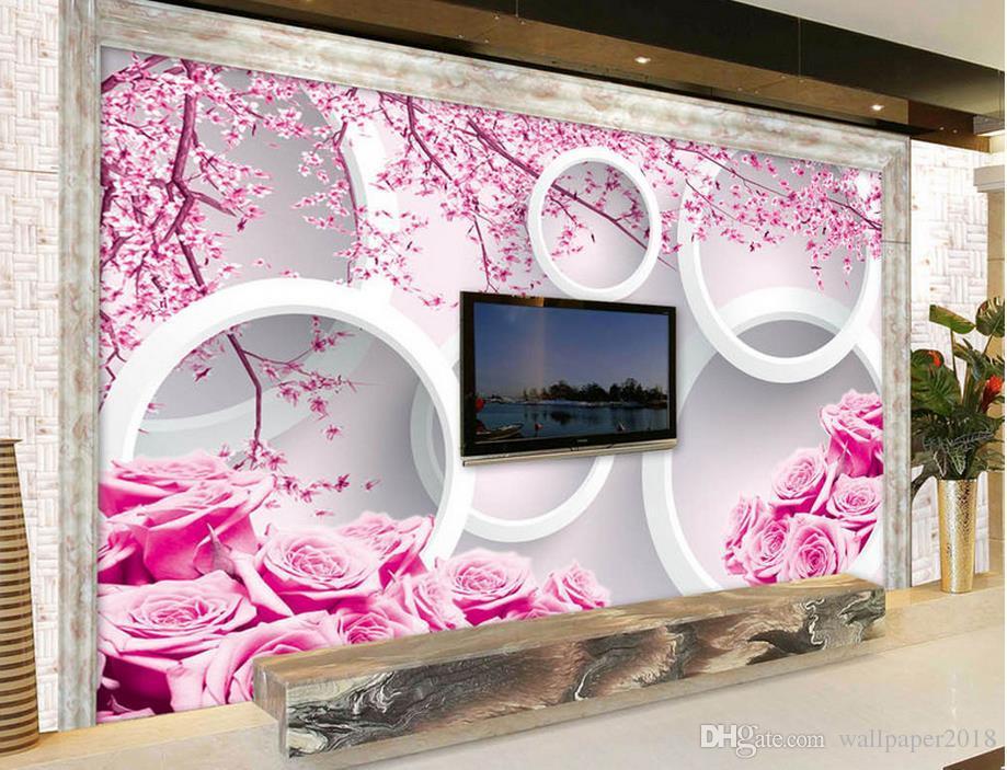 Carta Da Parati Damascata Rosa : Acquista carta da parati in mattoni d sfondo rosa rose d sfondi