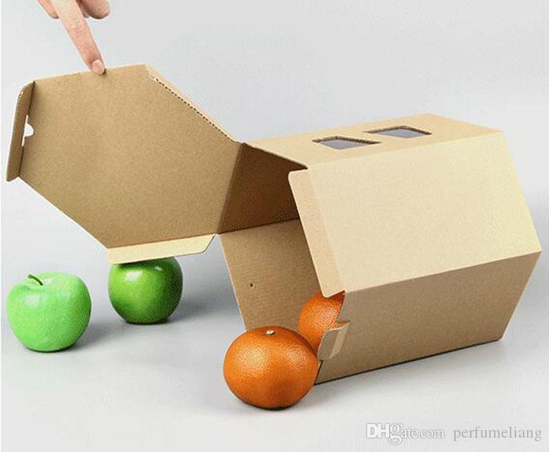 24 * 24 * 22 cm grande scatola di carta kraft esagono confezione regalo boutique confezione regalo bomboniera regalo di nozze ZA5128