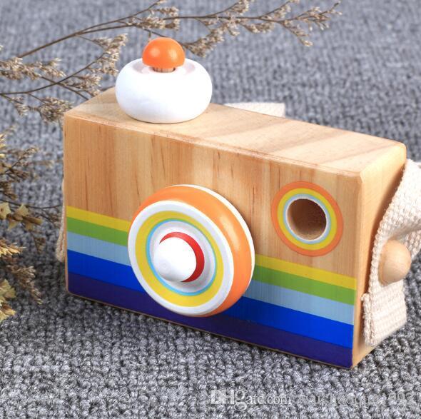 레인보우 어린이 나무 시뮬레이션 카메라 만화경 크리스마스 어린이 여행 장난감 아기 안전 천연 나무 생일 선물 장식 어린이 방