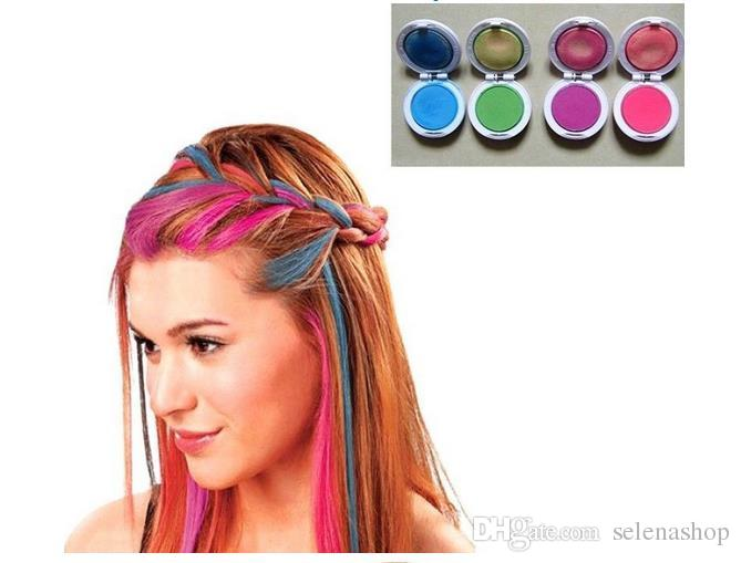 Temporary Hair Chalk Fashion Hair Dye Tool Set Hot Pink Blue Fuchsia