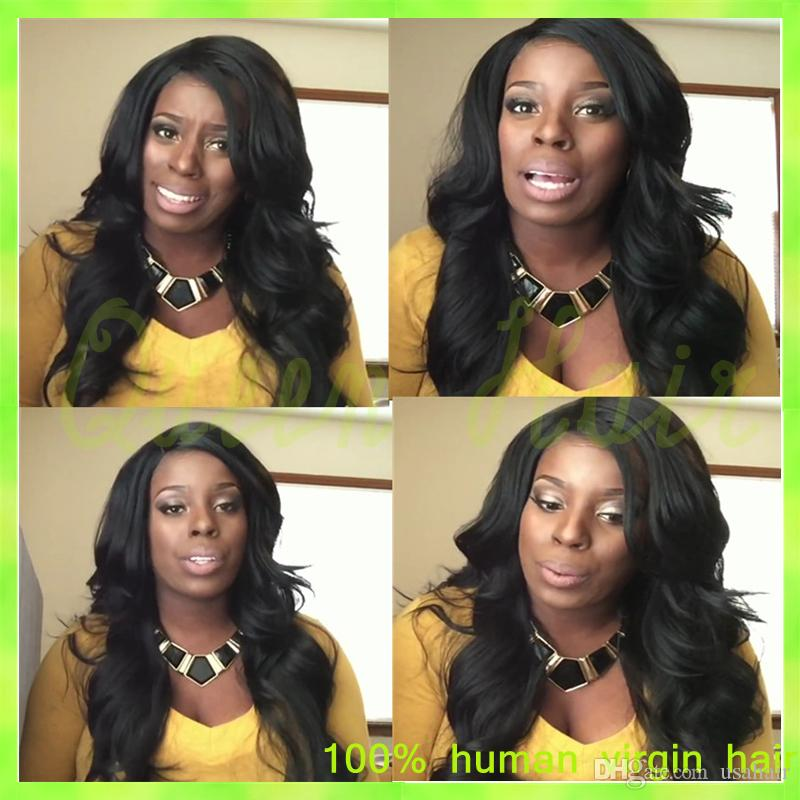 New arrival Brazilian loose wave full lace wig virgin human hair lace front wigs natural black color full lace human hair wigs