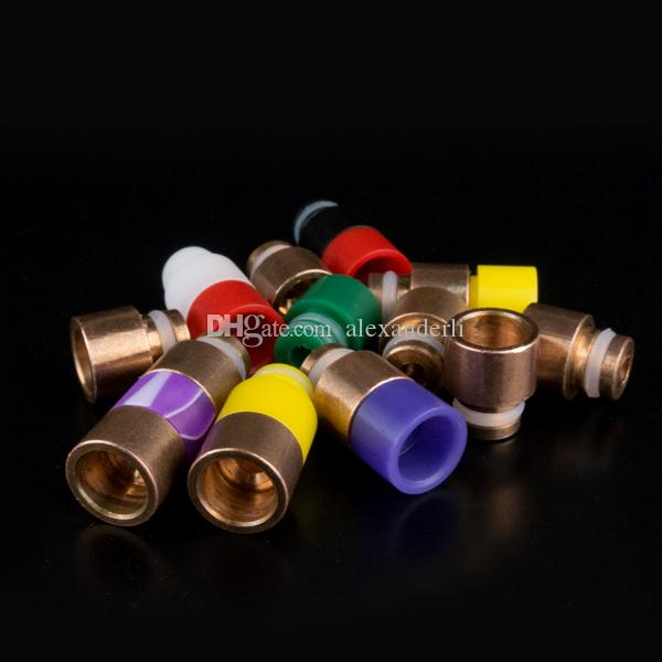 eGo 510 Wide Bore Drip Tips Copper+Resin Drip Tip Fit ecig cigares CE4 CE5 Atomizers Mechan Mods EGO Mouthpiece
