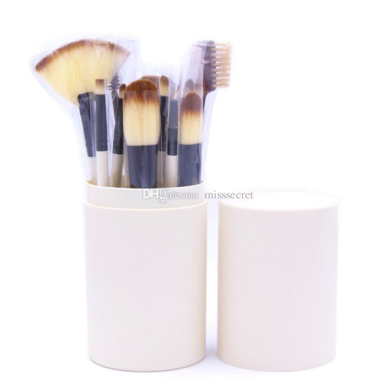 Eye Makeup Brushes Sets Eyeshadow Eyeliner Blending Pencil Cosmetic Brush Tools Kit Make Up Brush Set With Round Plastic Cup Box