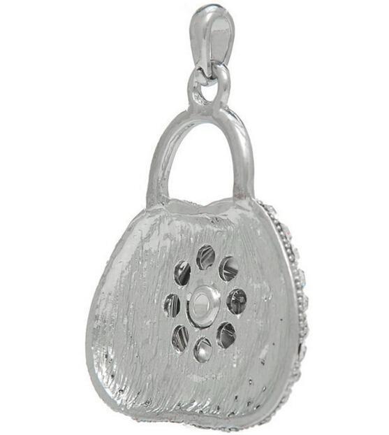 Нуса родием горный хрусталь кулон словосочетание может формировать замок DIY персонализированные кнопки подвески ювелирные изделия аксессуары подходят 18 мм