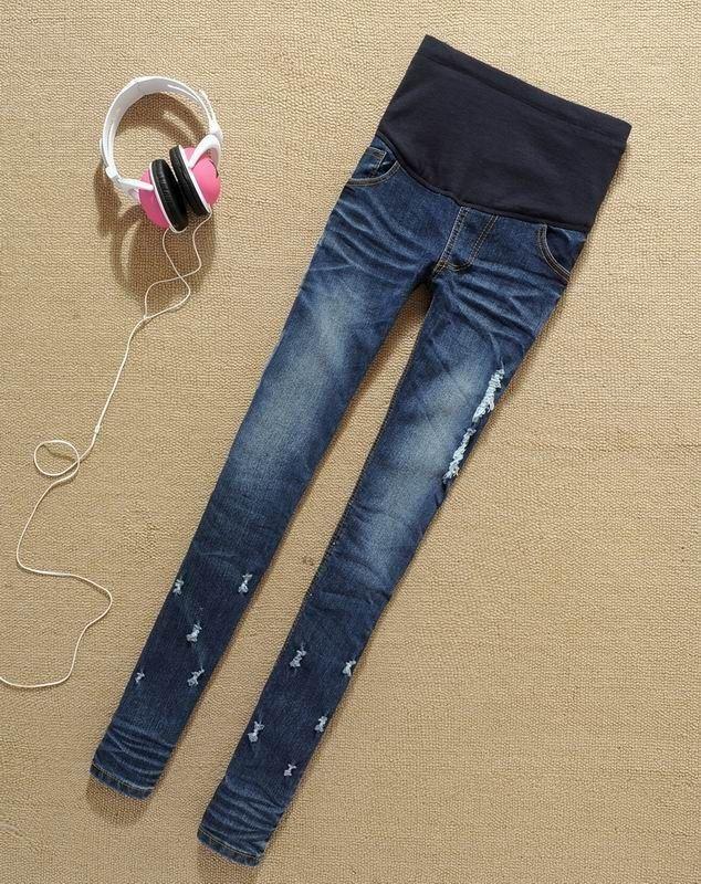 45ee62693 Compre Venta Caliente Jeans Para Embarazada Pantalones Mujer Denim Vientre  Elásticos De Maternidad Pantalones Primavera Otoño Lápiz Ropa Pantalones  Flacos ...