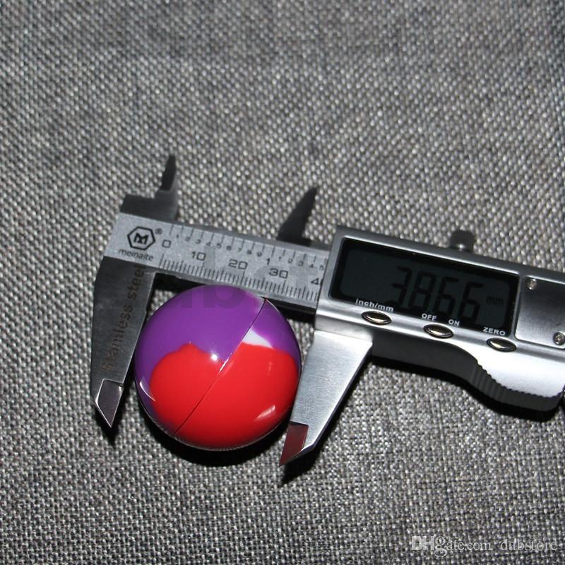 전자 담배 액세서리 왁 스에 대 한 비 스틱 실리콘 38mm 공 컨테이너 Bho 석유 부탄 기화기 실리콘 항아리 Dab 왁 스 컨테이너