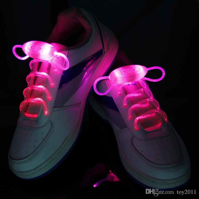 = 0Third génération LED Flashing Shoe Dentelle Fibre Optique Lacet Lacets Lumineux Light Up Flash Glowing Chaussures dentelle Coloré