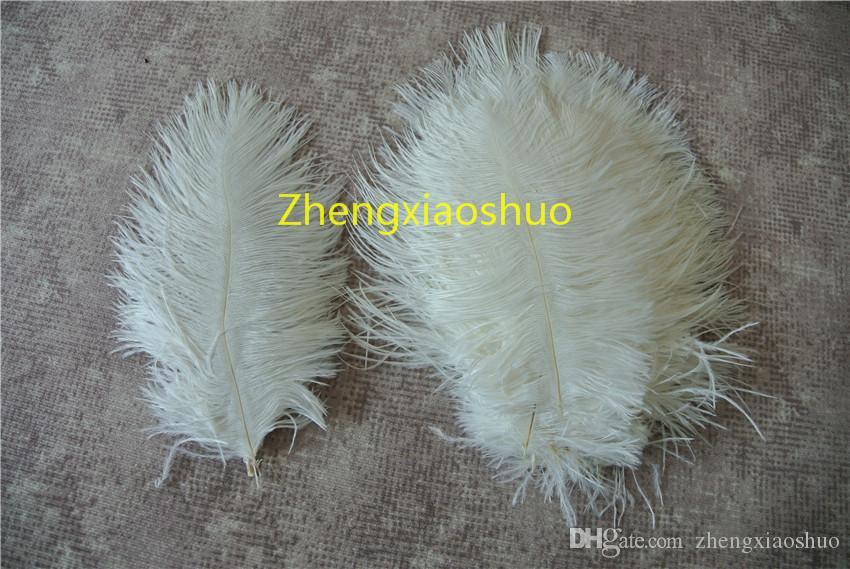 Оптовая продажа 100 шт. / лот белый 5-8 дюймов страусиные перья шлейфы для свадьбы центральные главная партия питания декор feative питания декор