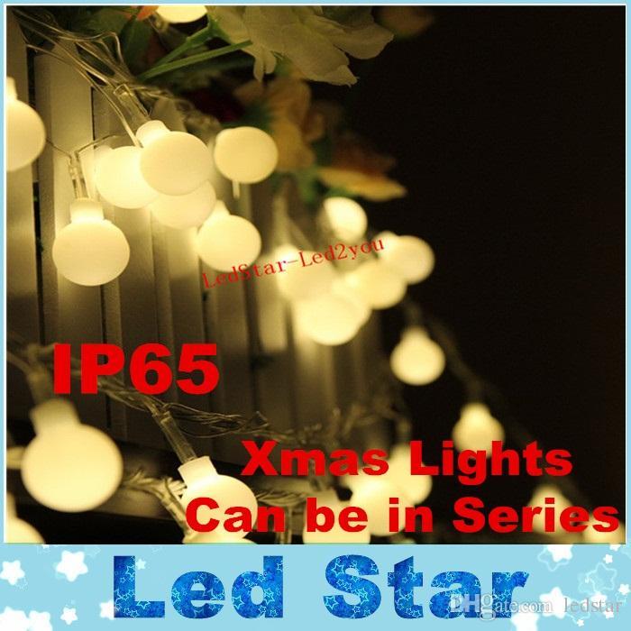 33d0a9bde63 Compre CA 110 V   220 V Novedad Iluminación Exterior Lámparas LED De Cuerda  De Bola 10 M 100LEDs Luces De Navidad De Hadas Boda Jardín Colgante  Guirnalda ...