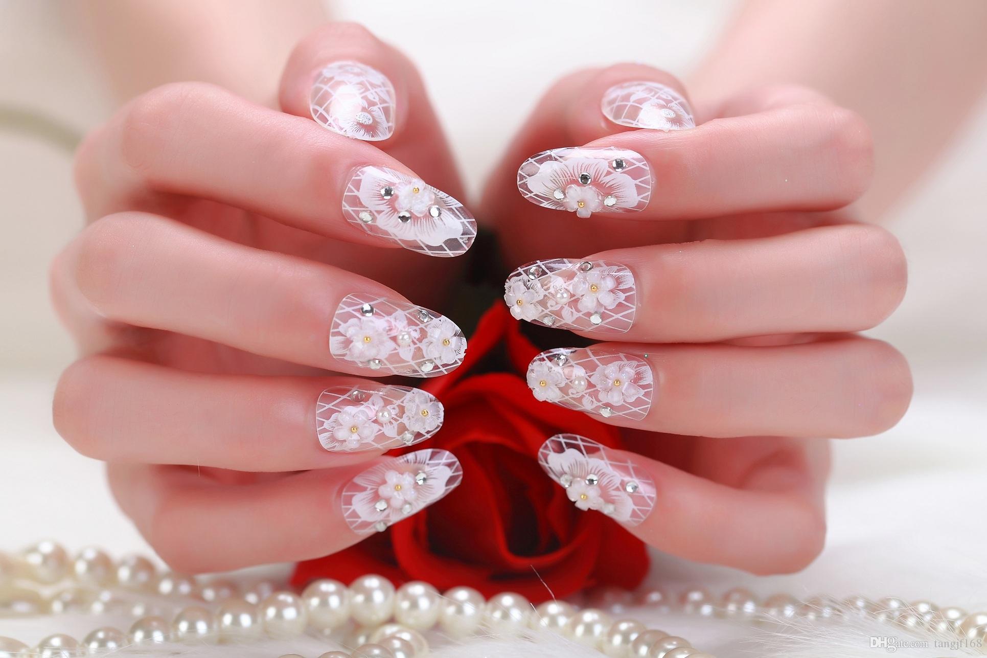 2015 Europe New Finished Fake Nails Manicure Flash Powder Products ...